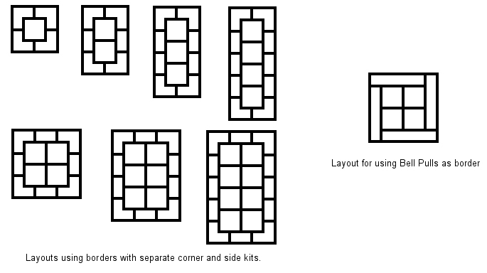 Patterns for tapestry carpets and wallhangings