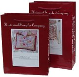Historical Sampler Company tapestry kits come in a top quality laminated carrier and make great gifts!