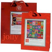 Jolly Red tapestry kits come in a top quality laminated carrier and make great gifts!