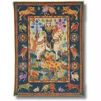 Lion Hunt tapestry wallhanging