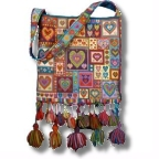 Little Hearts Patchwork tapestry bag kit