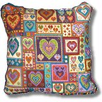 Little Hearts Patchwork tapestry pillow kit