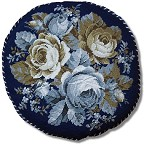 Beverley Tramé Tapestry: Grey and White Rose Designs