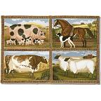 Elizabeth Bradley 'Beasts of the Fields' Rug