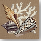 Elizabeth Bradley 'The Shells' Tapestry Kits