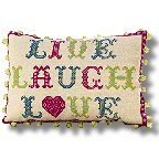 The Historical Sampler Company - 'Live, Laugh, Love' Tapestry Kit