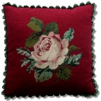 Ivo single flower tapestry cushions and rug squares