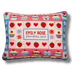 Jolly Red 'Strawberry Cupcake' Tapestry Birth Sampler Kit