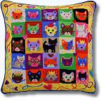 Jolly Red 'Kitten Caboodle' Tapestry Kit