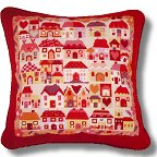Jolly Red 'Patchwork Village' Tapestry Kit