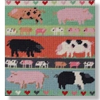 Jolly Red 'Pigs and Piglets' Tapestry Kit