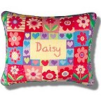 Jolly Red Tapestry Birth Samplers for Girls