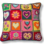 Jolly Red Summer Patchwork Tapestry Kit