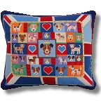 Jolly Red 'Union Jack Russells' Tapestry Kit
