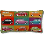 Kirk and Hamilton Tapestry Kits - Pop Art Mini Cars