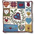New England Needle Collection - Shaker Patchwork Hearts Tapestry Kit