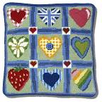 One Off Patchwork Hearts Tapestry Cushion Kit