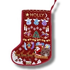 One Off Tapestry Red Santa Xmas Stocking Kit